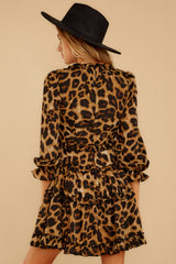 8 Love Is Automatic Brown Leopard Print Dress at reddressboutique.com