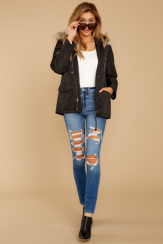 4 Be Melodramatic Medium Wash Distressed Skinny Jeans at reddressboutique.com