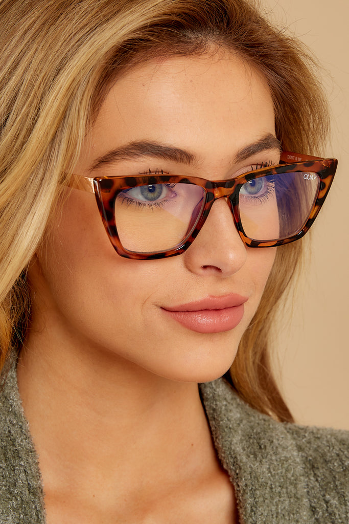 1 9 To 5 Black Clear Blue Light Glasses at reddressboutique.com