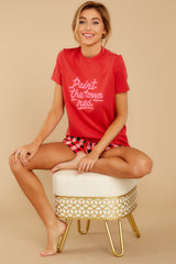 2 Paint The Town Red Retro Tee at reddressboutique.com