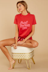 3 Paint The Town Red Retro Tee at reddressboutique.com