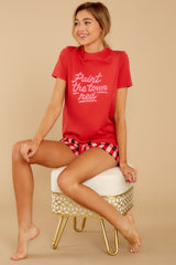 5 Paint The Town Red Retro Tee at reddressboutique.com