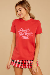 7 Paint The Town Red Retro Tee at reddressboutique.com