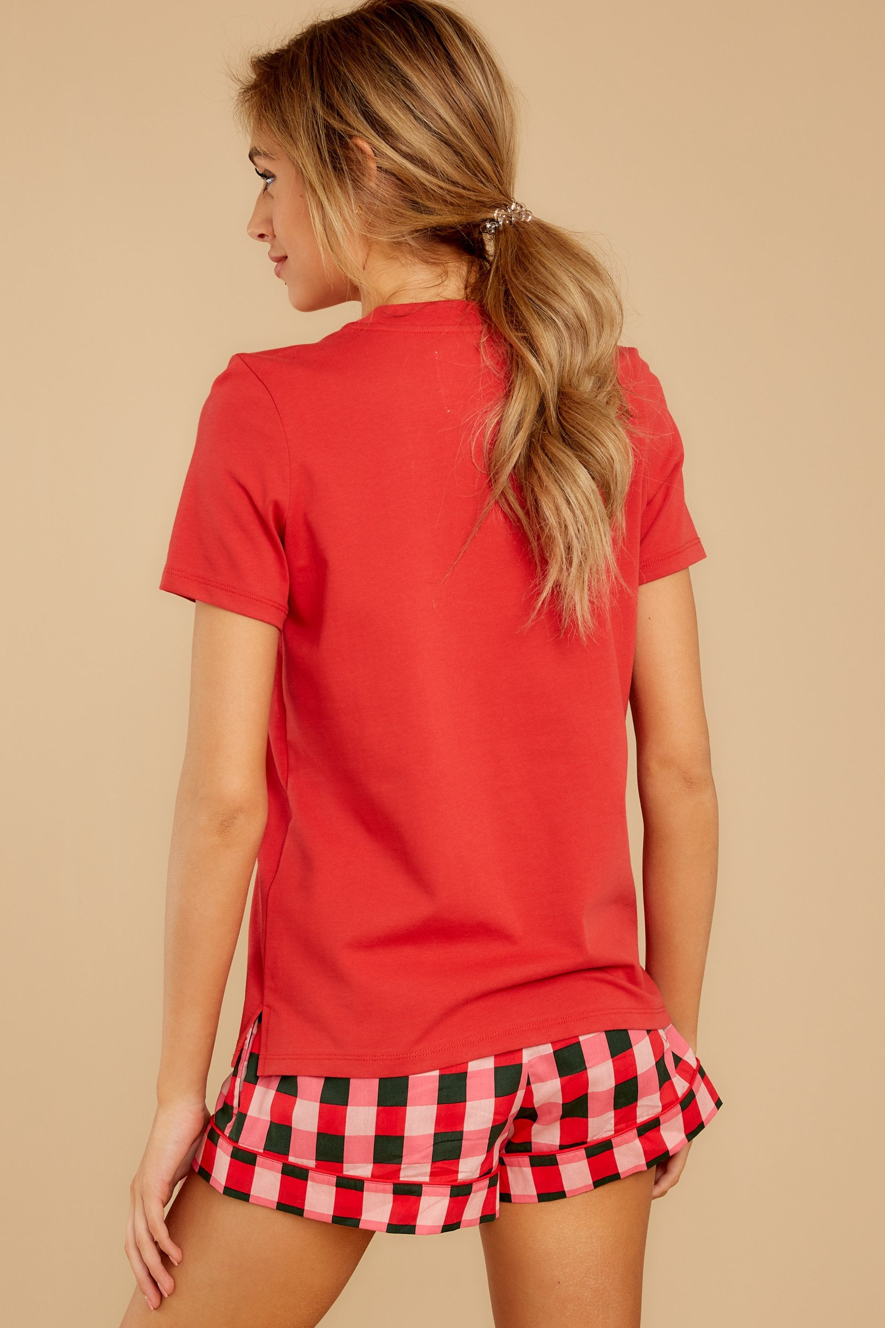 9 Paint The Town Red Retro Tee at reddressboutique.com