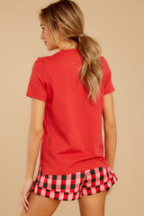 7 Paint The Town Red Retro Tee at reddress.com