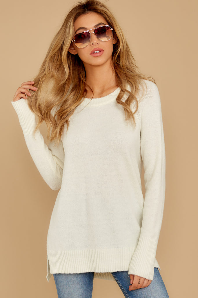 1 All About Me Ivory Sweater at reddressboutique.com