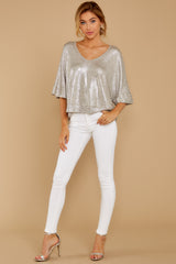 1 Spontaneous Me Gold Champagne Top at reddressboutique.com