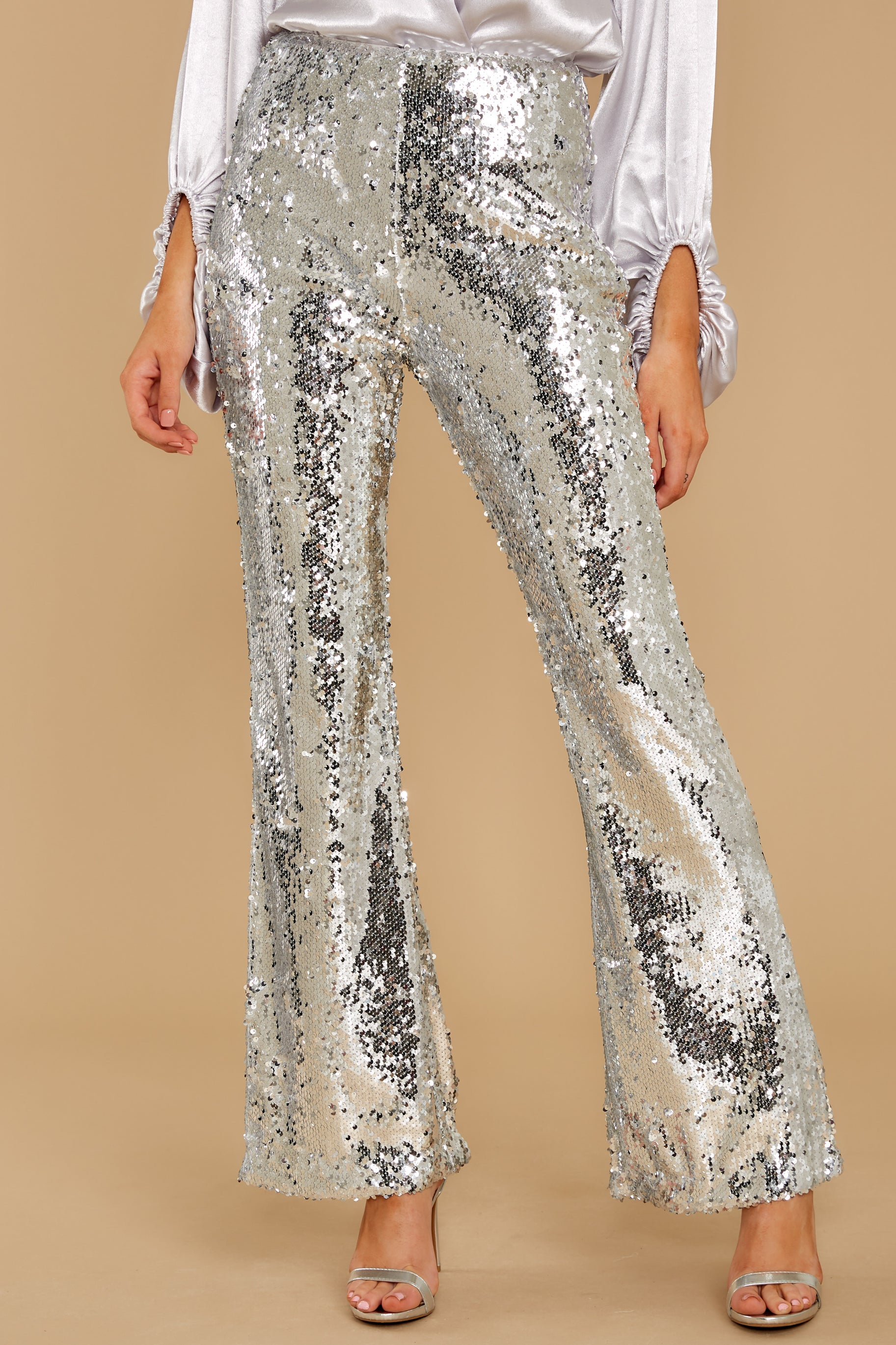 1 She Did It Again Silver Sequin Pants at reddressboutique.com