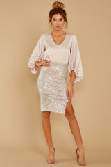 1 At The Time Champagne Top at reddressboutique.com