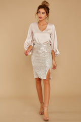 2 At The Time Champagne Top at reddressboutique.com