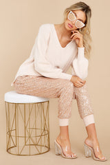 1 New Traditions Ivory Sweater at reddress.com