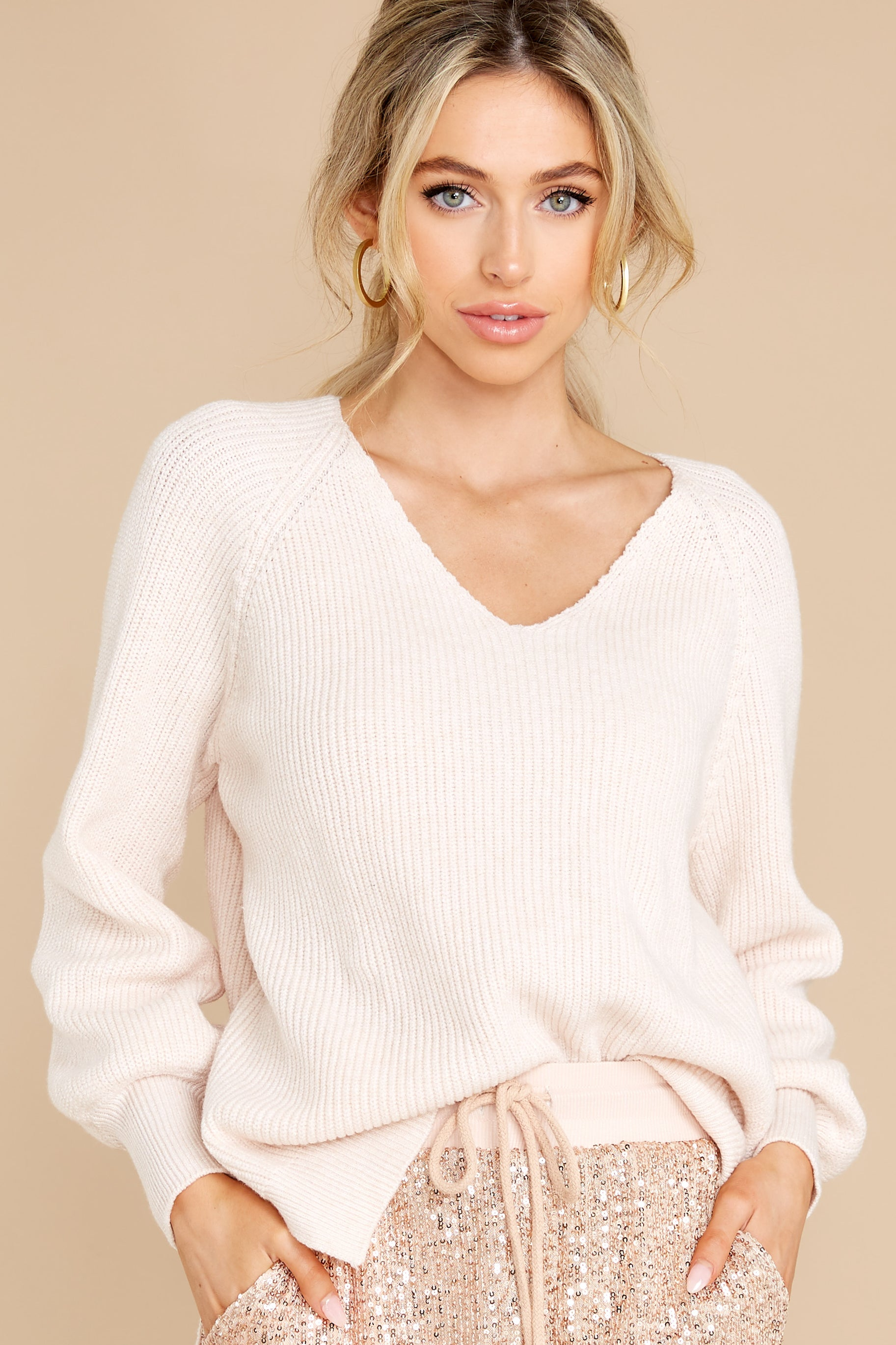 5 New Traditions Ivory Sweater at reddress.com