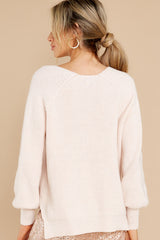 8 New Traditions Ivory Sweater at reddress.com