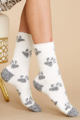 1 Paws Plush Socks at reddress.com