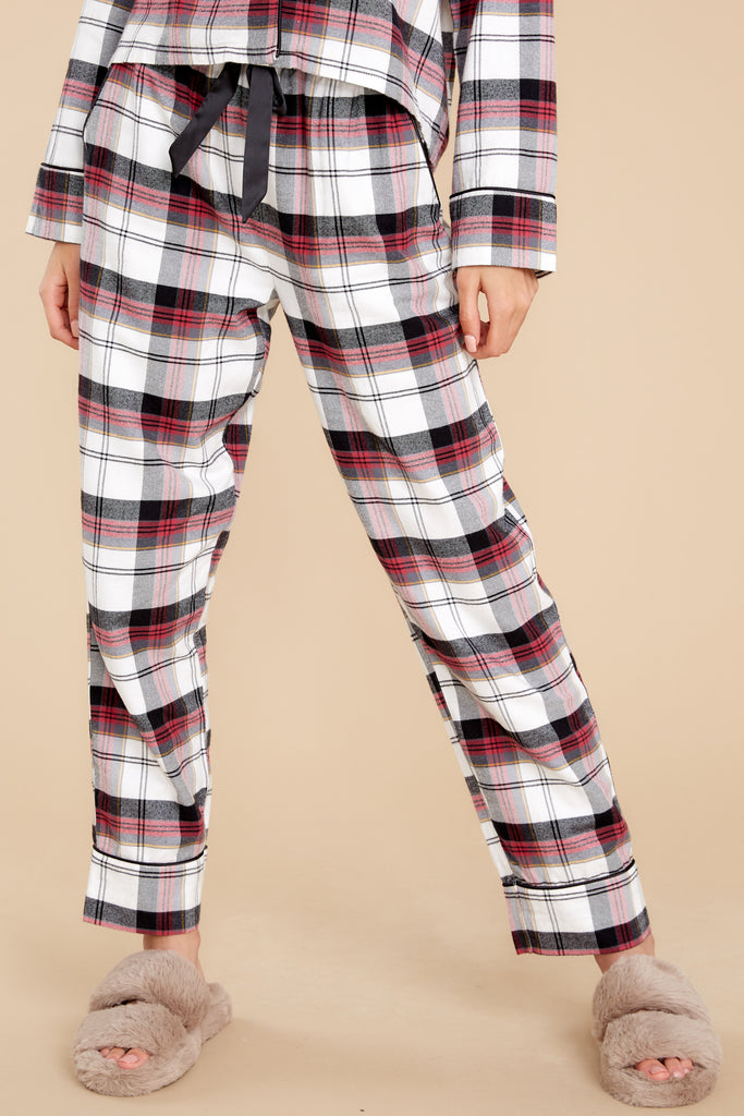 1 Dream State Vanilla Ice Plaid Pajama Pants at reddress.com
