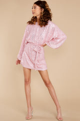 3 Twinkle And Sparkle Pink Sequin Dress at reddress.com