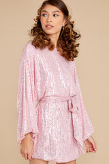 6 Twinkle And Sparkle Pink Sequin Dress at reddress.com