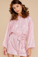 5 Twinkle And Sparkle Pink Sequin Dress at reddress.com