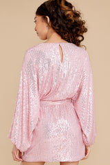 8 Twinkle And Sparkle Pink Sequin Dress at reddress.com