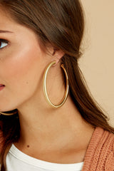 2 Nineties Babe Gold Earrings at reddressboutique.com