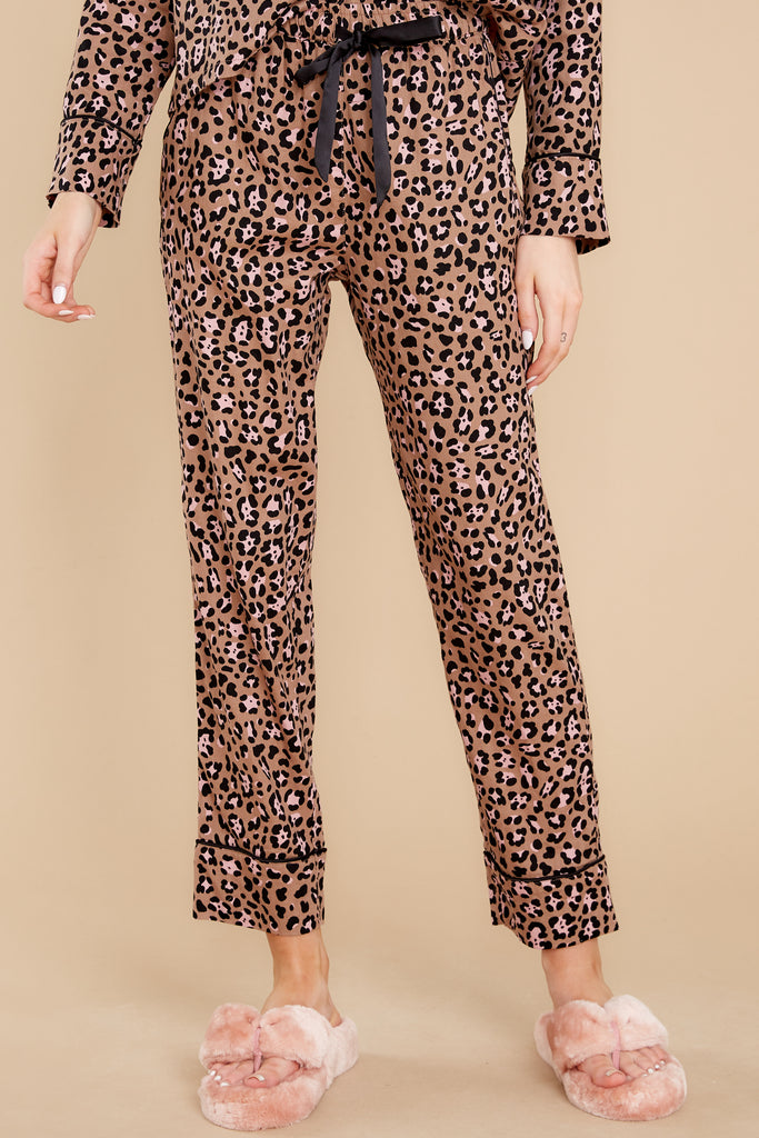 1 Dream State Toast Leopard Pajama Pants at reddress.com