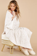 2 Sunday Vanilla Ice Leopard Plush Blanket at reddress.com