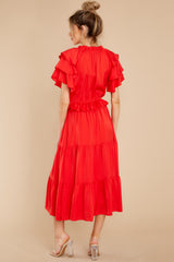 6 Frilled With You Red Midi Dress at reddress.com