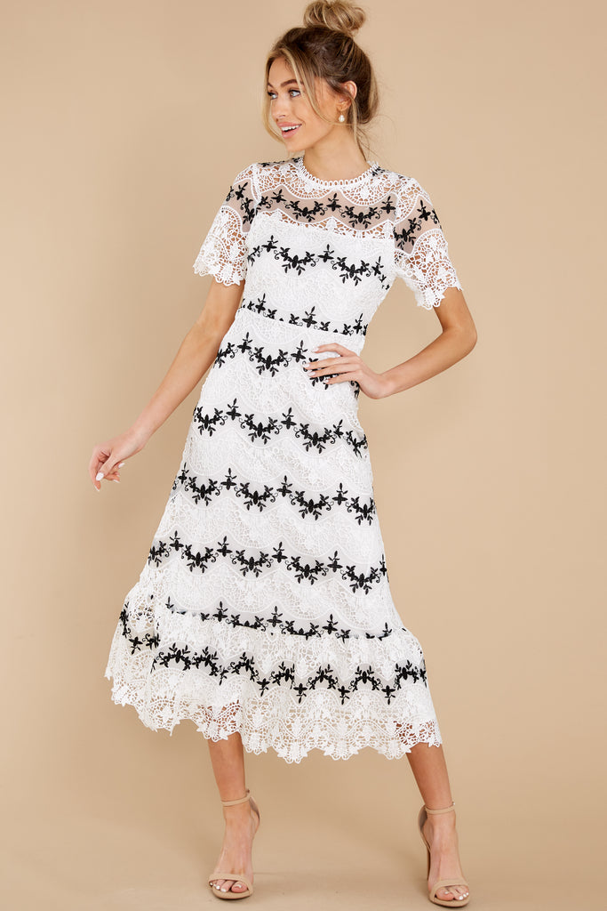 1 Windswept Fields Ivory Floral Print Dress at reddress.com