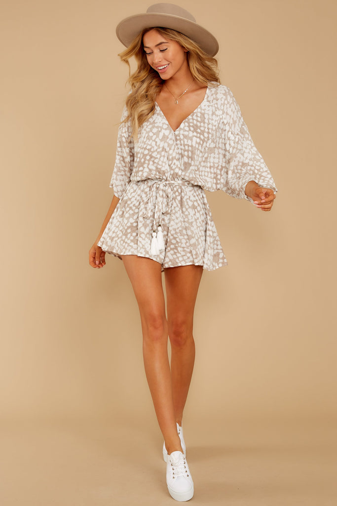 5 Hold Your Breath Pink Multi Print Romper at reddressboutique,com