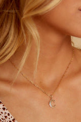 6 C Block Initial Necklace at reddressboutique.com