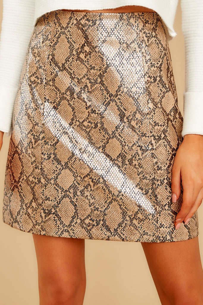 1 Leave Her Wild Tan Snake Print Skirt at reddressboutique.com