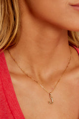21 J Block Initial Necklace at reddressboutique.com