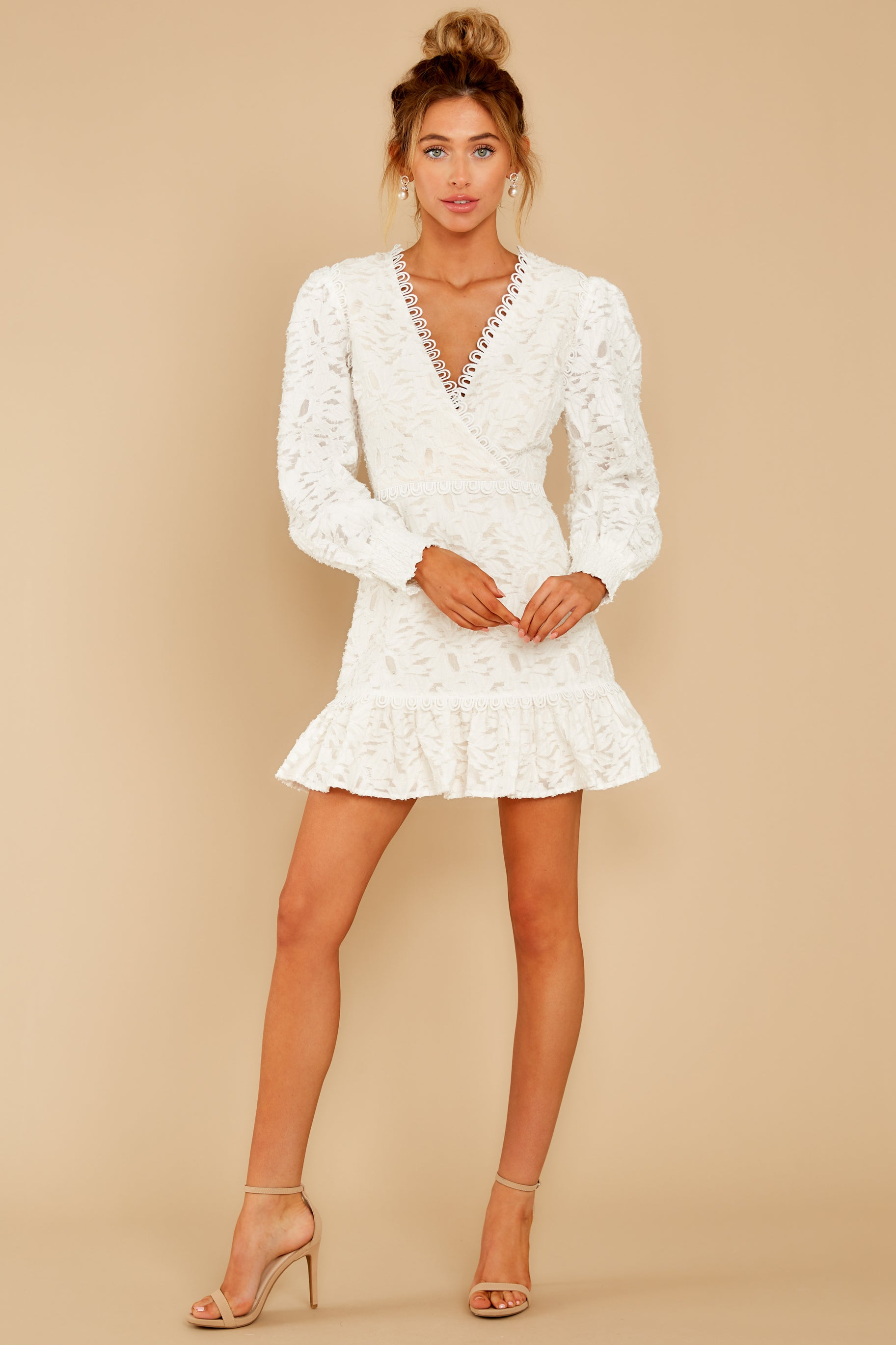 2 May This Be Love White Lace Dress at reddressboutique.com