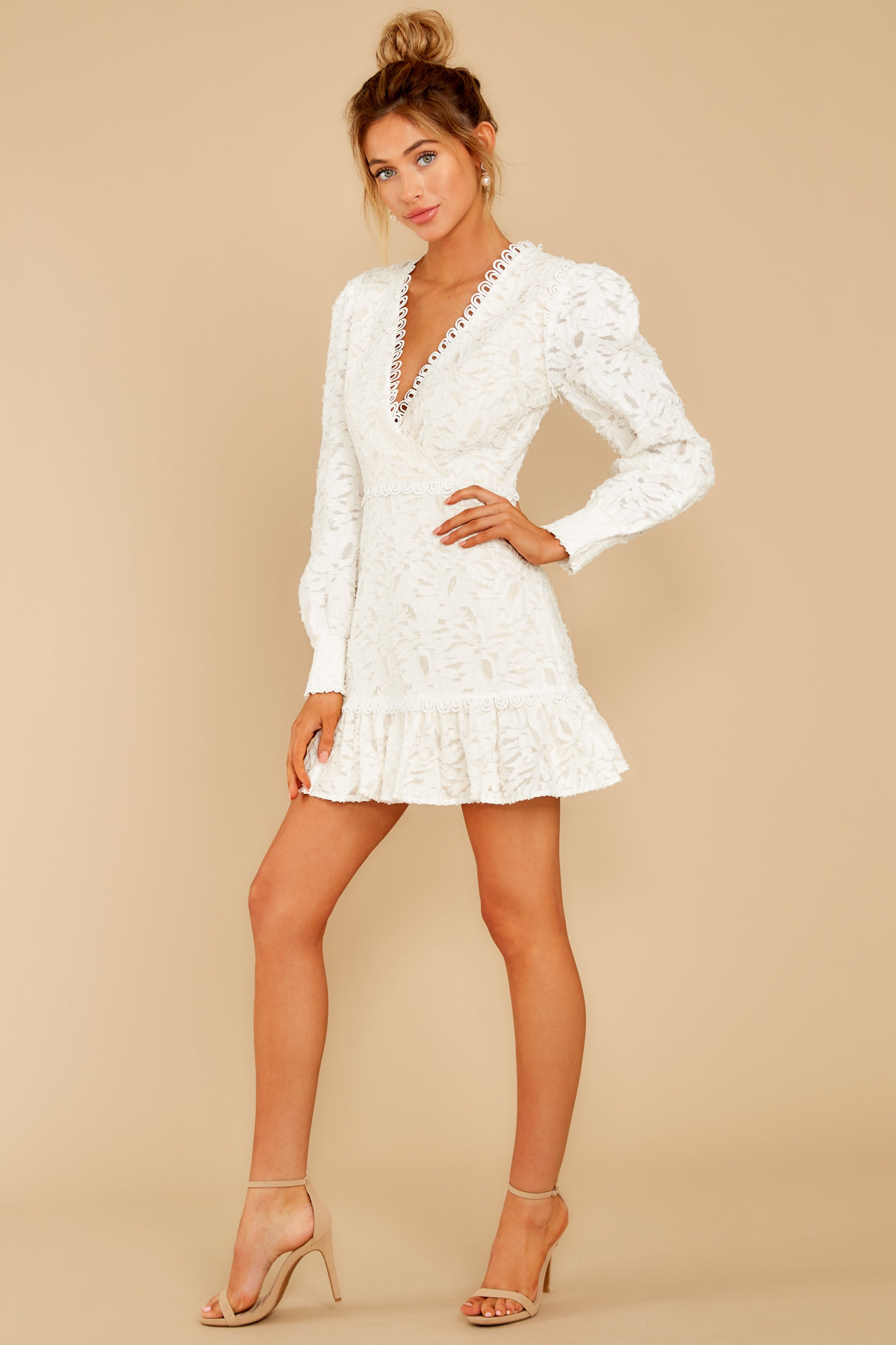4 May This Be Love White Lace Dress at reddressboutique.com