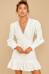 5 May This Be Love White Lace Dress at reddressboutique.com