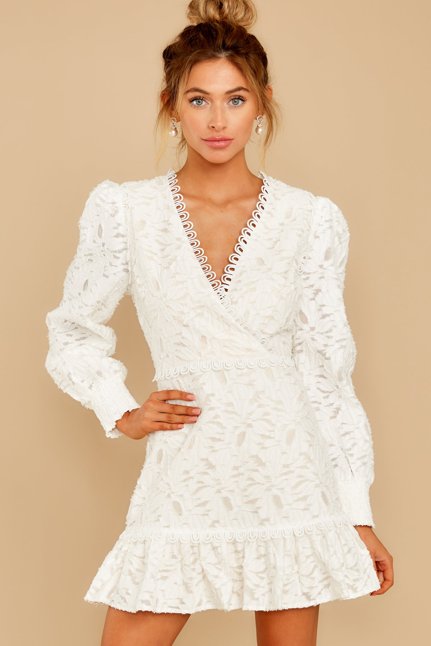 6 May This Be Love White Lace Dress at reddressboutique.com