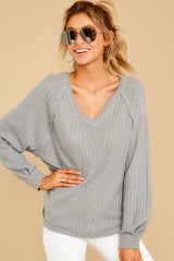 8 Anything But Basic Grey Top at reddressboutique.com