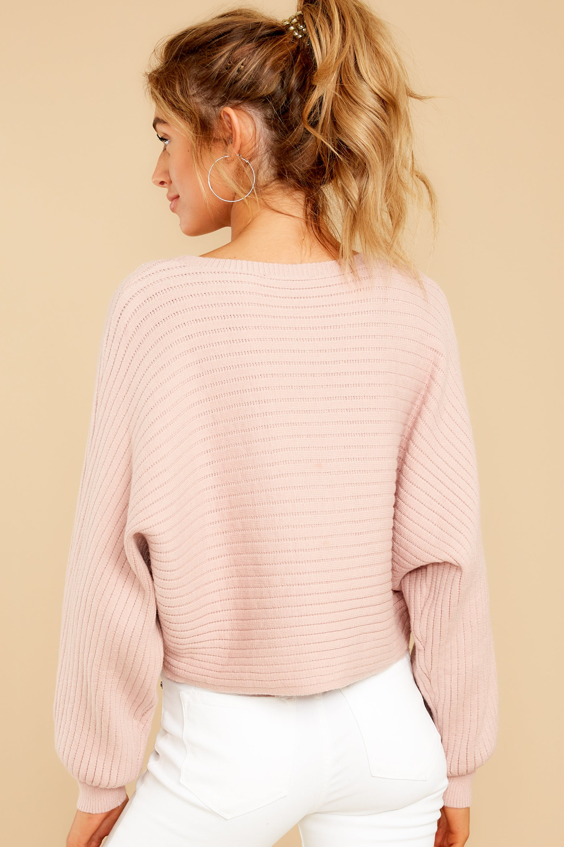 8 Just Your Type Light Pink Crop Sweater at reddressboutique.com