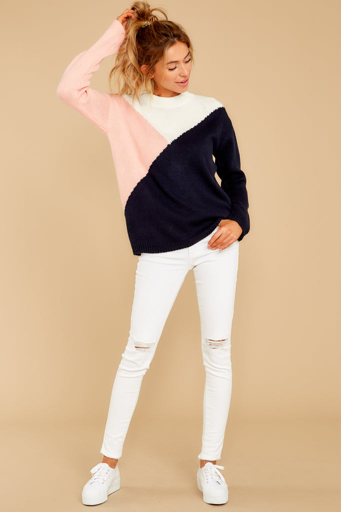 Wind Down Navy Blue Sweater