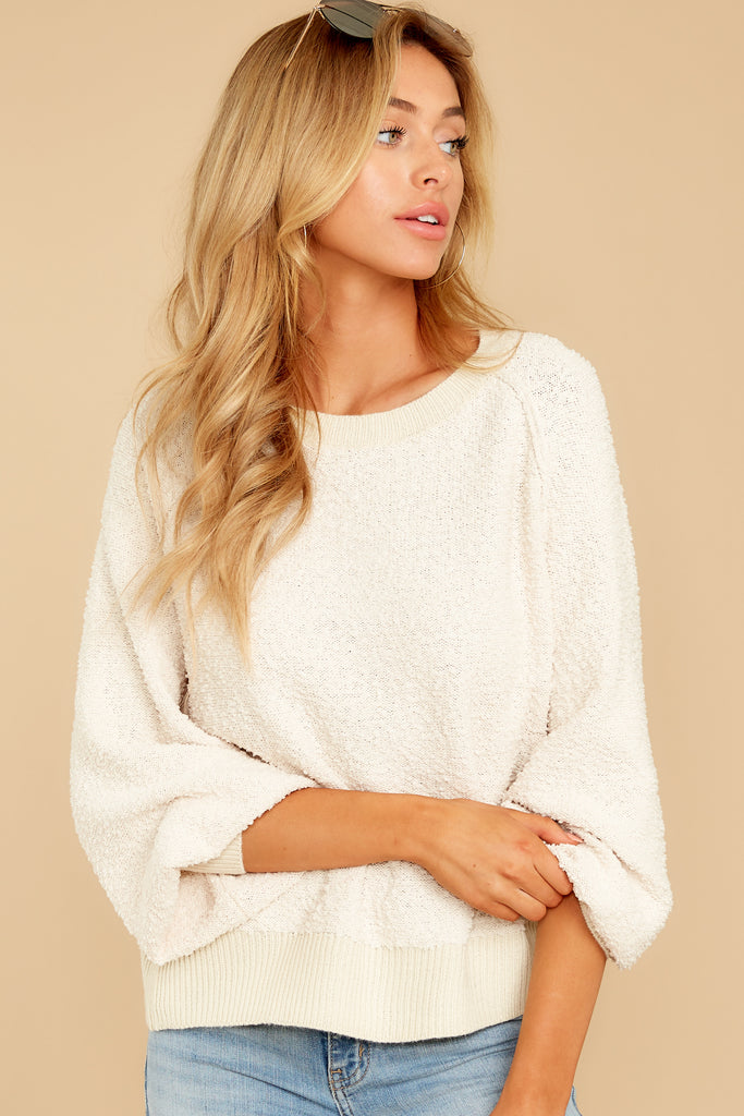 1 Fashionable Truth White Sweater at reddress.com