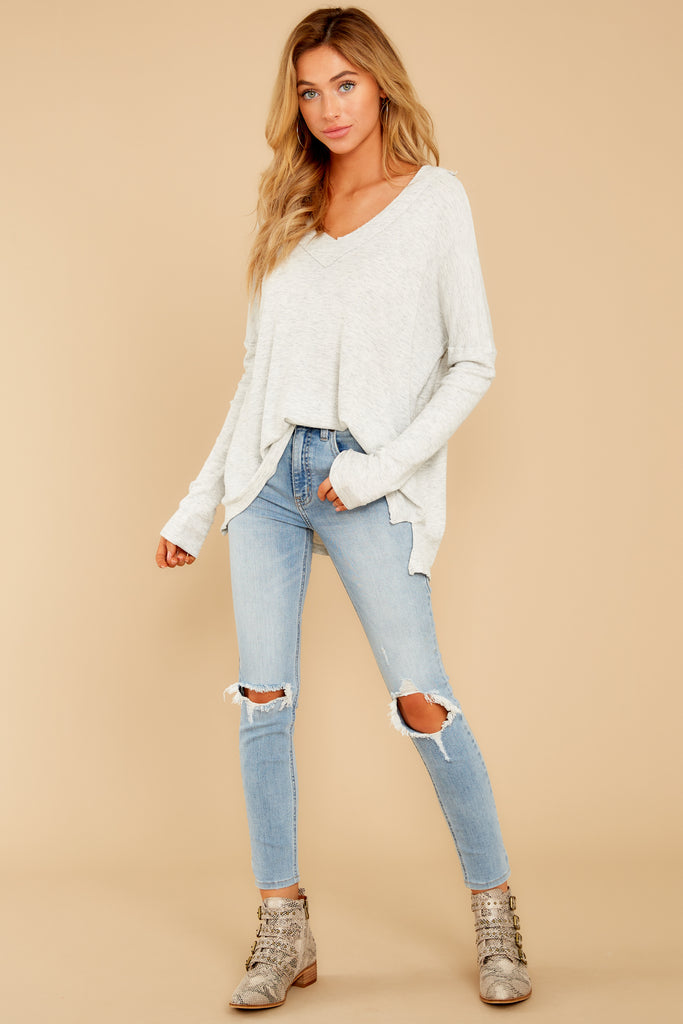 1 Cue The Casual Light Wash Distressed Skinny Jeans at reddressboutique.com