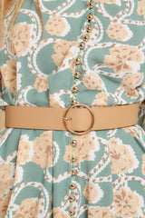 1 Fit For You Tan Belt at reddressboutique.com