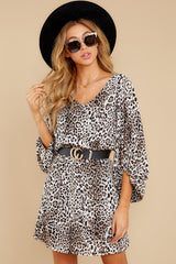 3 Always A Hit Leopard Print Dress at reddressboutique.com