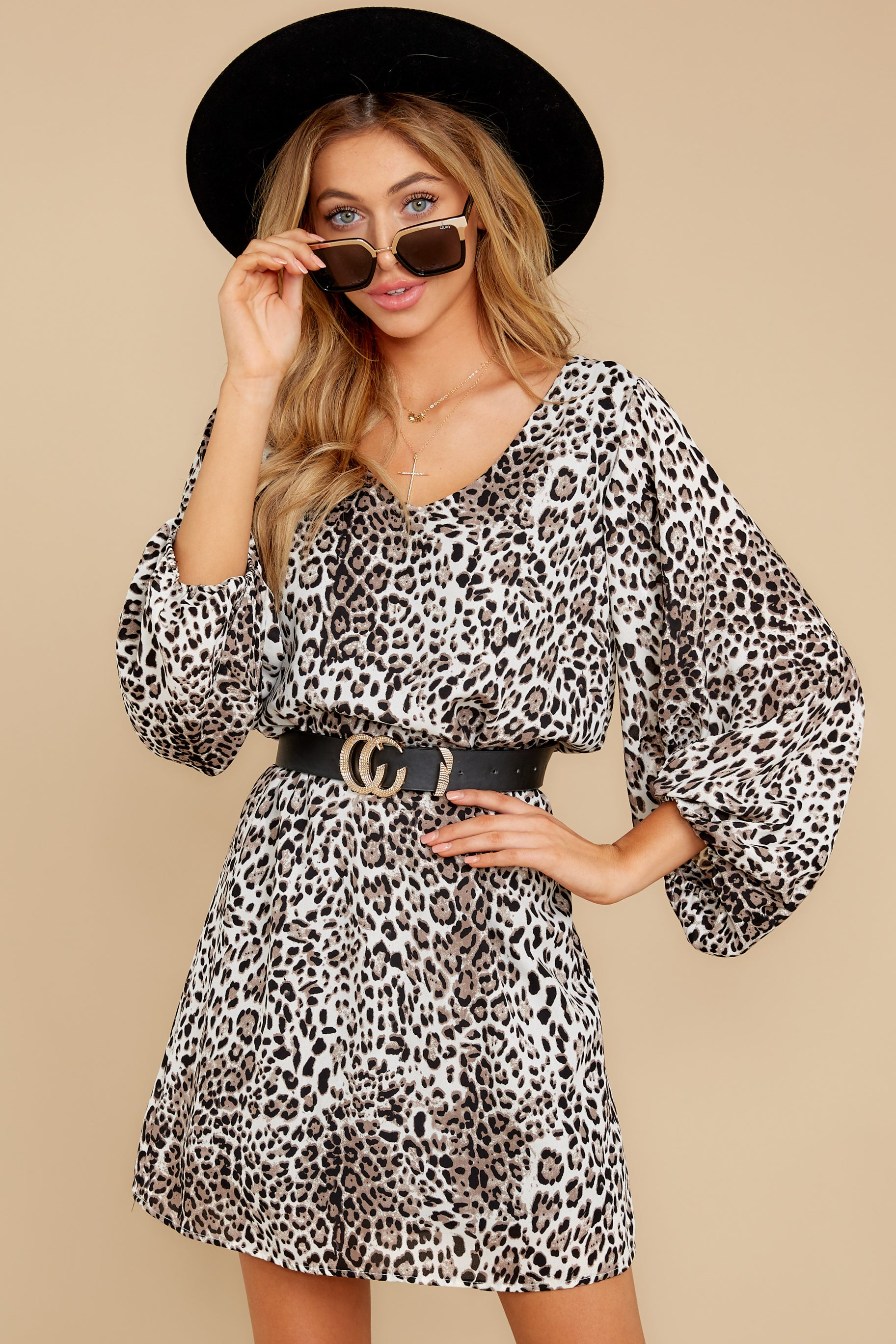 4 Always A Hit Leopard Print Dress at reddressboutique.com