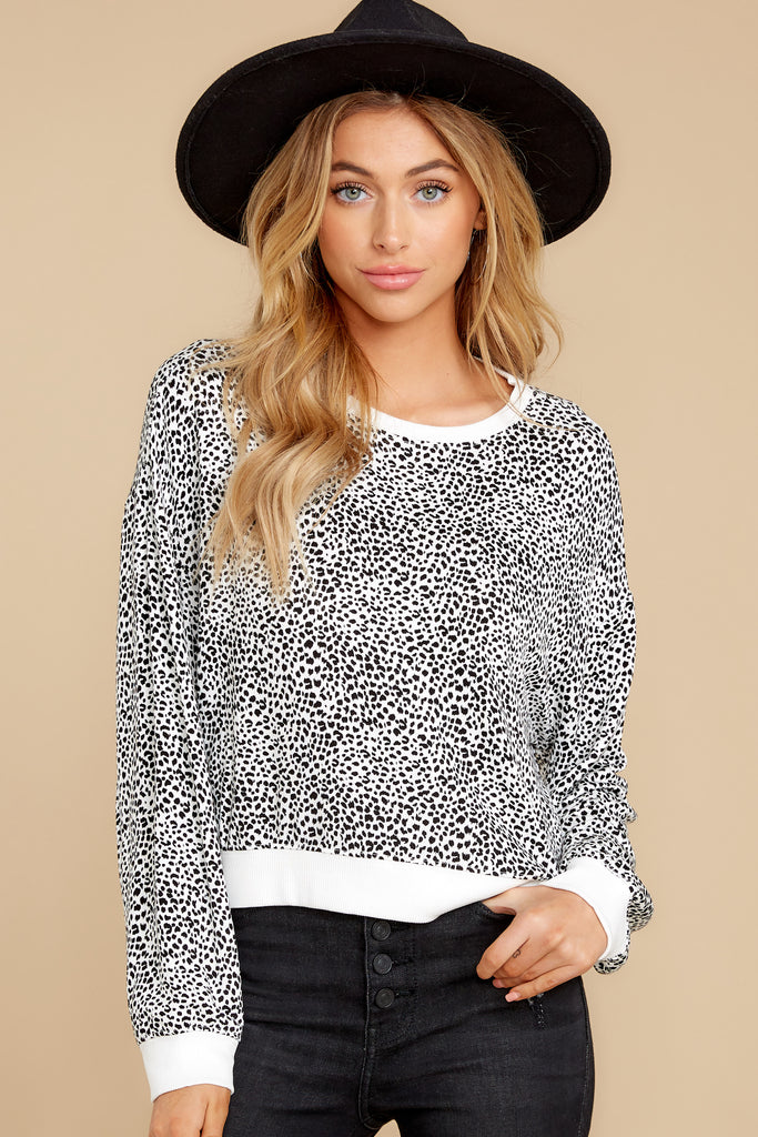 1 Make It Through Blush Leopard Print Crop Hoodie at reddress.com