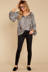 1 Let's Go Ivory Leopard Print Top at reddressboutique.com