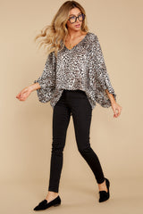 3 Let's Go Ivory Leopard Print Top at reddressboutique.com