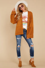 3 Copain Mustard Over Sized Cardigan Sweater at reddressboutique.com