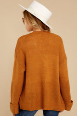 8 Copain Mustard Over Sized Cardigan Sweater at reddressboutique.com