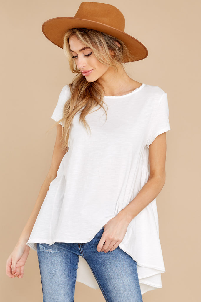 1 Wrap My Heart White Twist Top at reddress.com